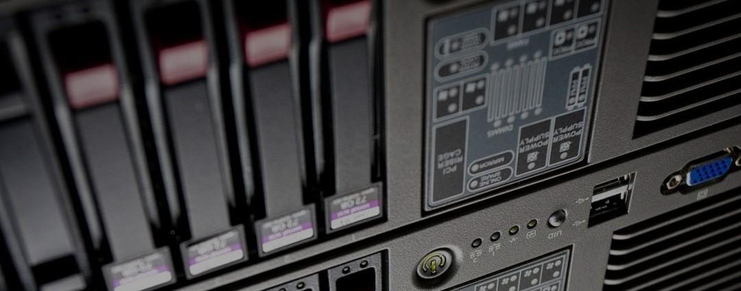 Fast Server Rack LinkedIn Background
