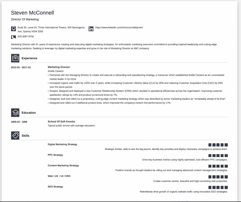 online resume builder australia  highly effective or