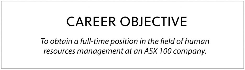 professional resume career objective